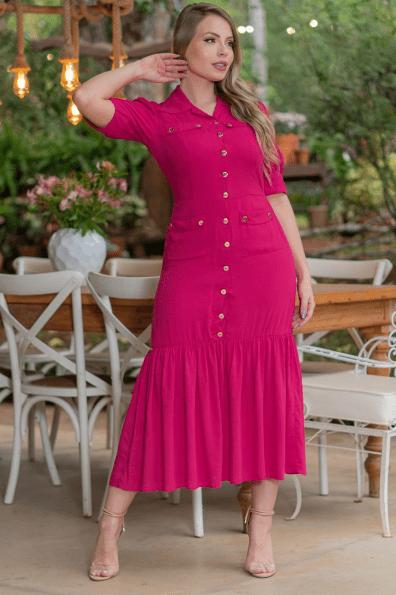 Vestido Em Viscolinho - Moda Evangélica Kauly (3201 E)