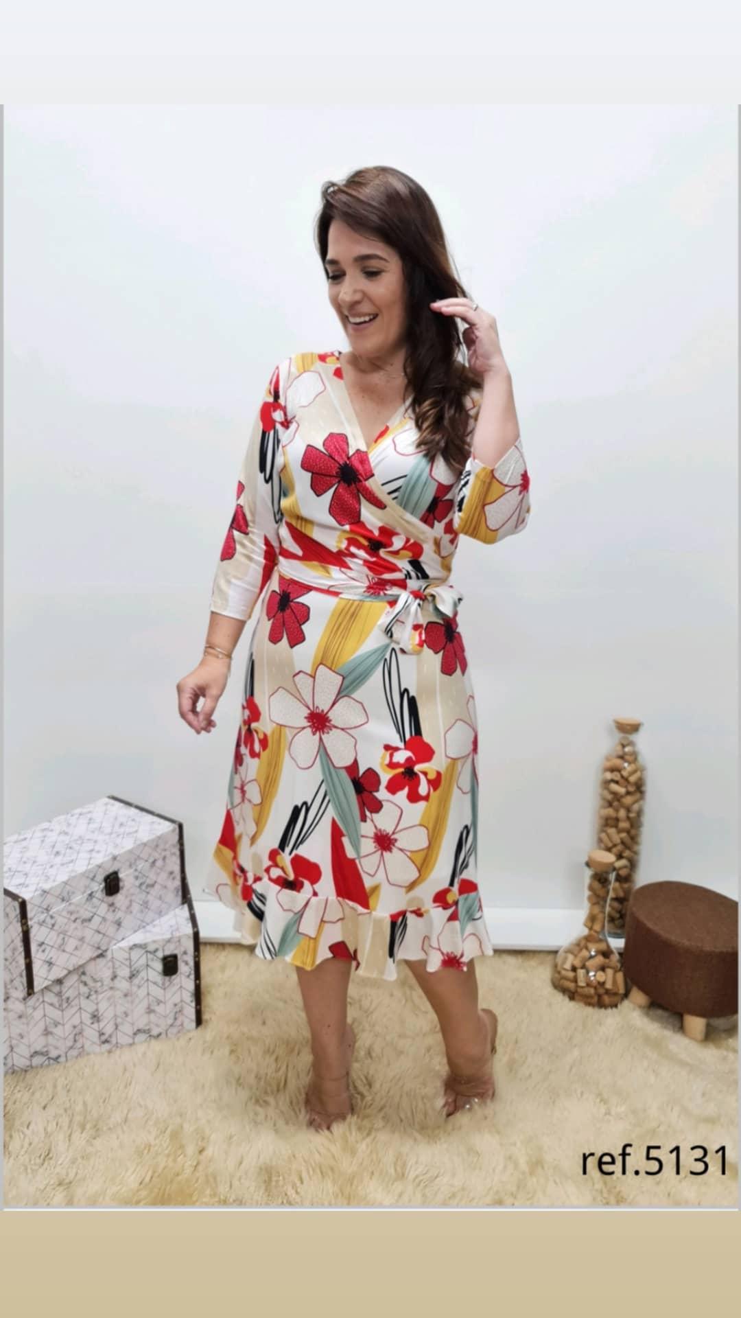 Vestido Em Viscose Confort - Moda Evangélica Cechiq (5131 E)