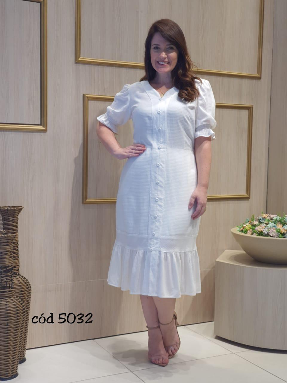 Vestido Em Viscose - Moda Evangélica Cechiq (5032 T)