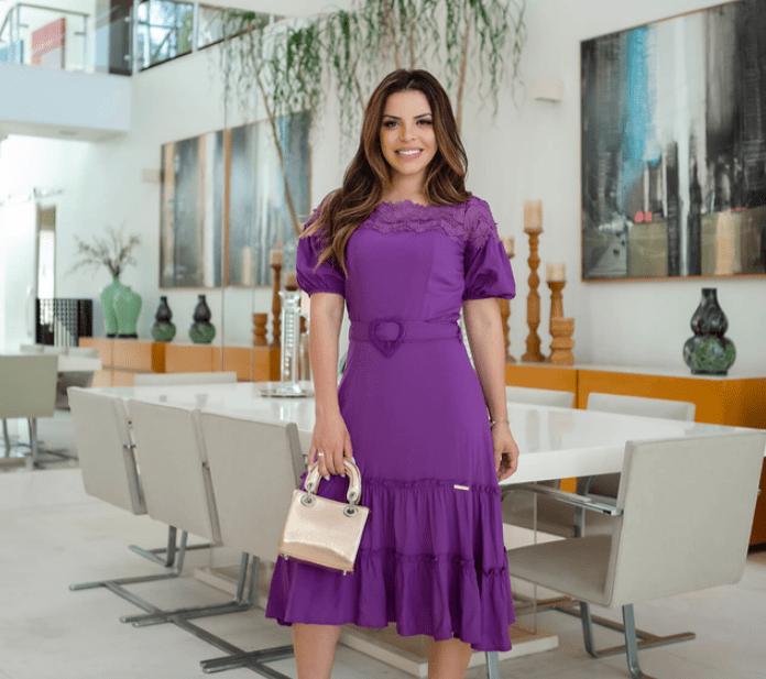 Vestido Em Viscose - Moda Evangélica Joyaly (30674 E)