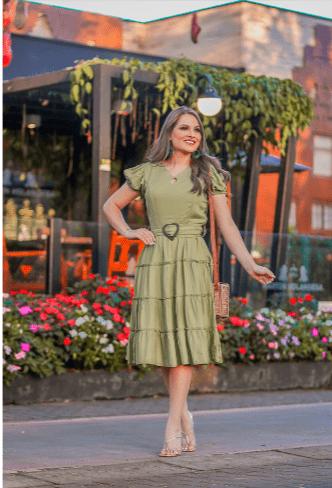 Vestido Em Viscose - Moda Evangélica Joyaly (30712 T)