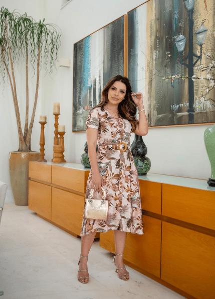 Vestido Em Viscose - Moda Evangélica Joyaly (30749 T)