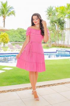 Vestido Em Viscose - Moda Evangélica  Joyaly (30919 T)