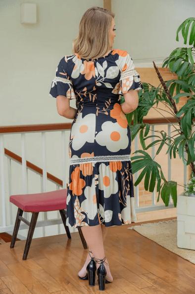 Vestido Em Viscose - Moda Evangélica Kauly (3028 E)