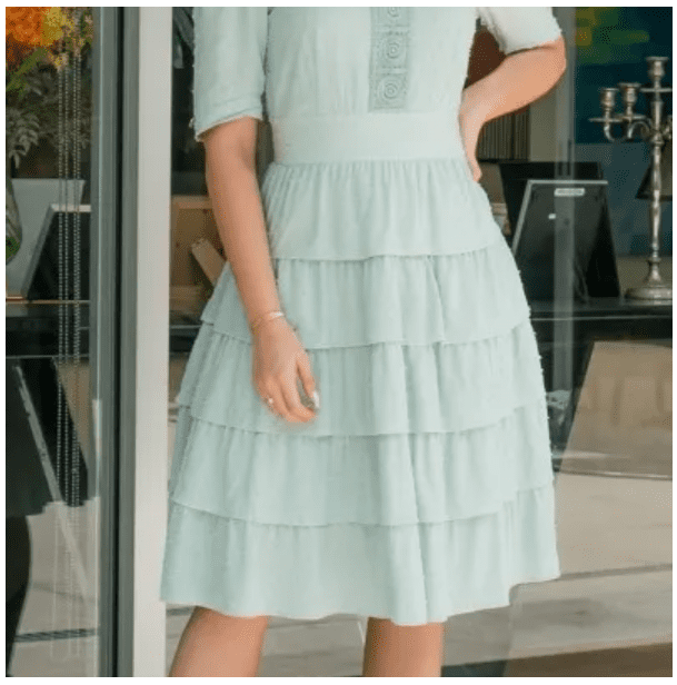 Vestido Em Viscose - Moda Evangélica Luciana Pais (92905 T)