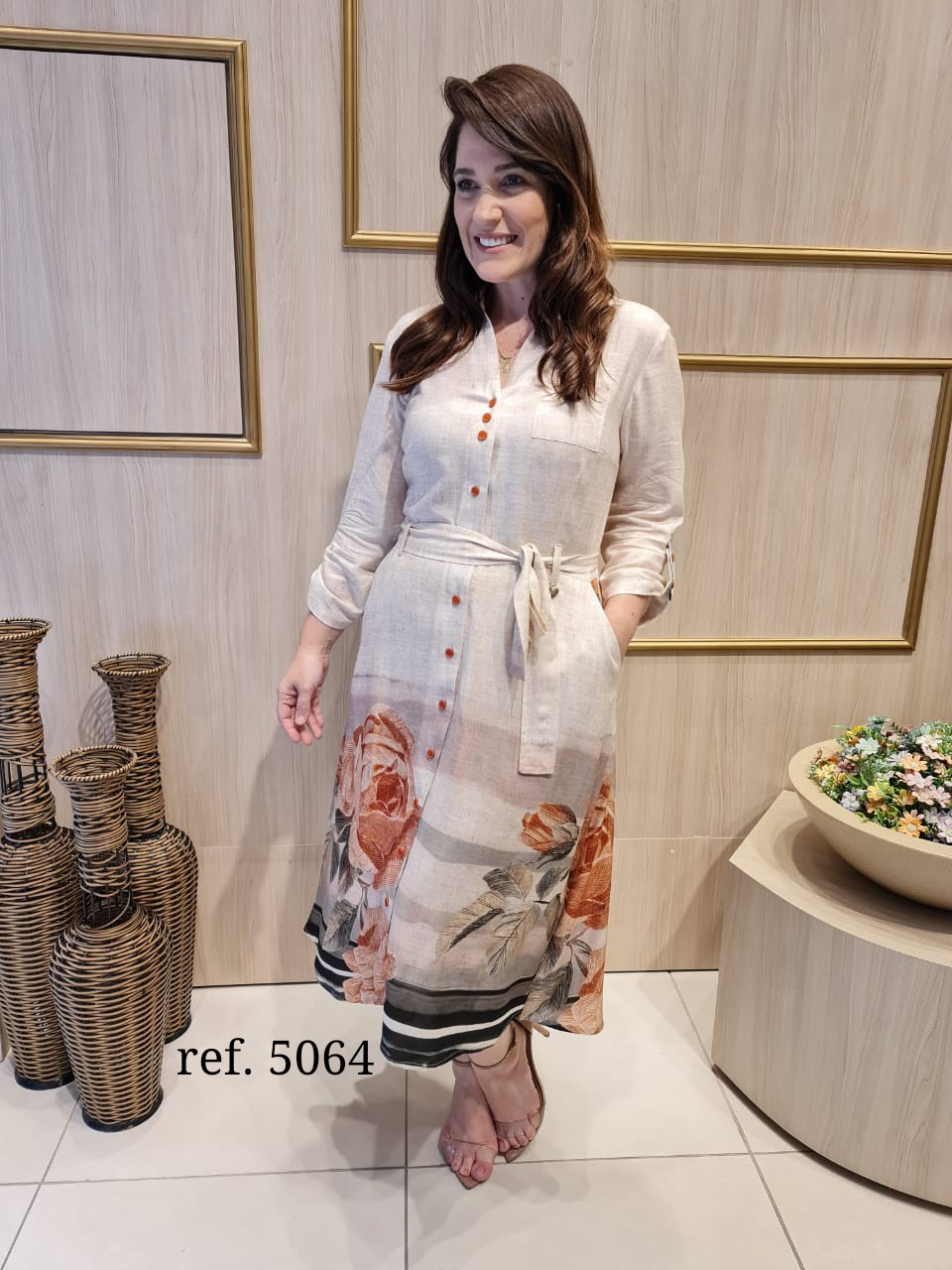 Vestido Em Viscose Pré Lavado - Moda Evangélica Cechiq (5064 T)