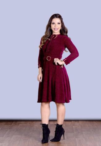 Vestido Gode Com Cinto - Laçamento Joyaly (30542 T)