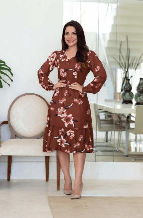 Vestido Lady Like em Viscose - Lançamento Joyaly (30601 T)