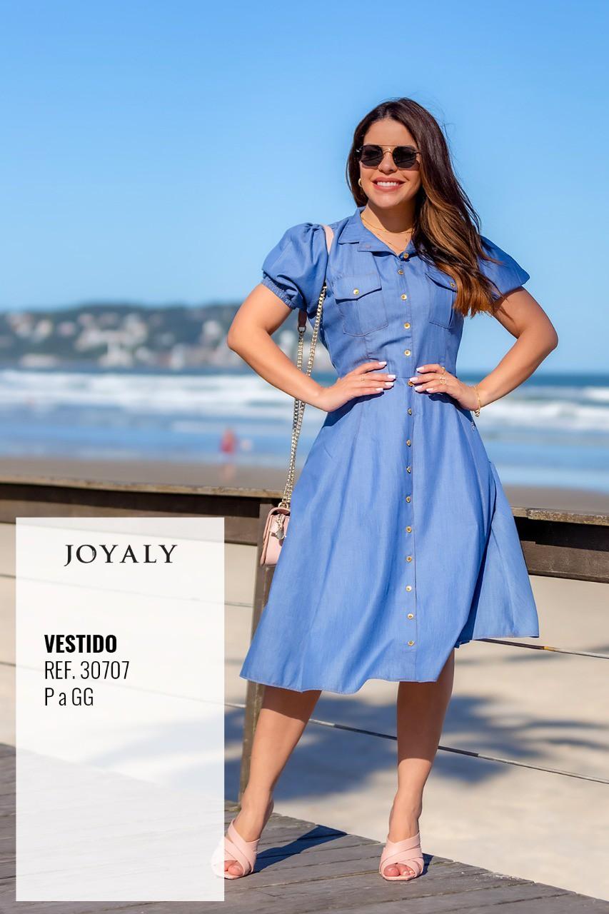 Vestido Godê Em Viscose - Moda Evangélica Joyaly (30707 T)