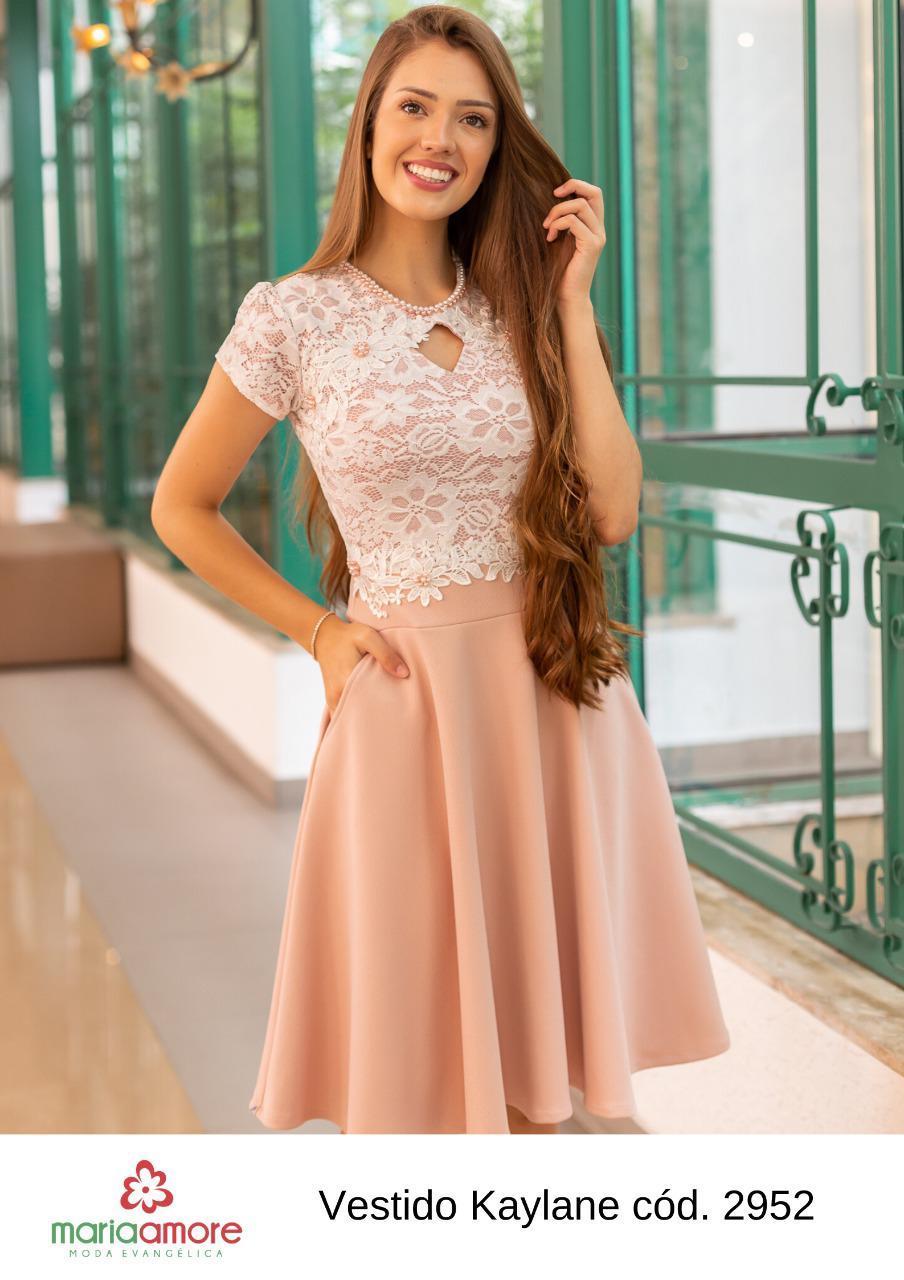 Vestido Gode - Moda Evangélica Maria Amore (2952 E)