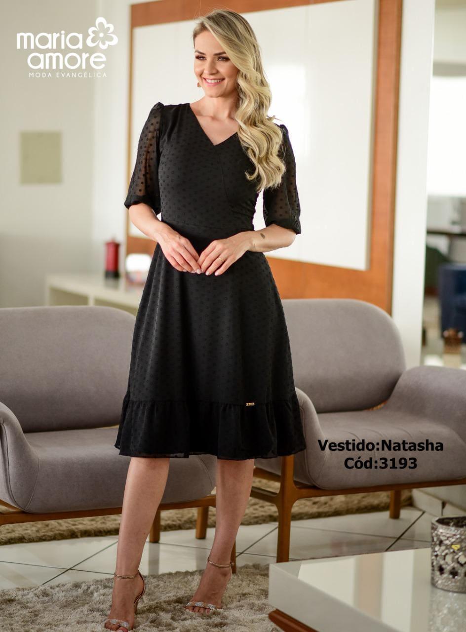 Vestido Godê - Moda Evangélica Maria Amore - (3193 T)