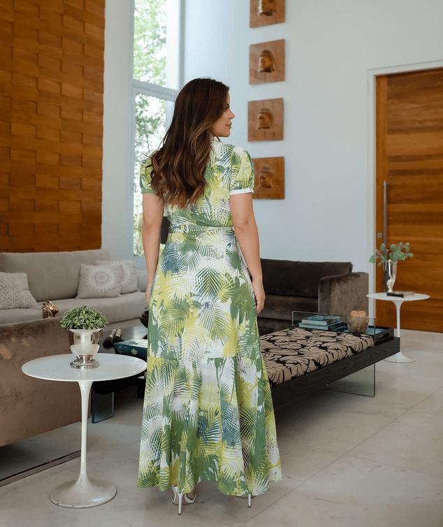 Vestido Longo Chemisier - Moda Evangélica Joyaly (30723 E)