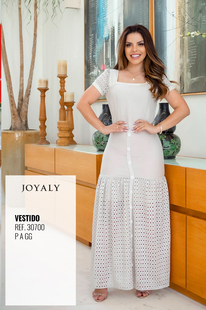 Vestido Longo Compose - Moda Evangélica Joyaly (30700 T)