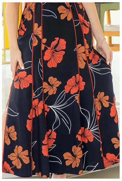Vestido Longo Em Crepe - Moda Evangélica Kauly  (2996 E)