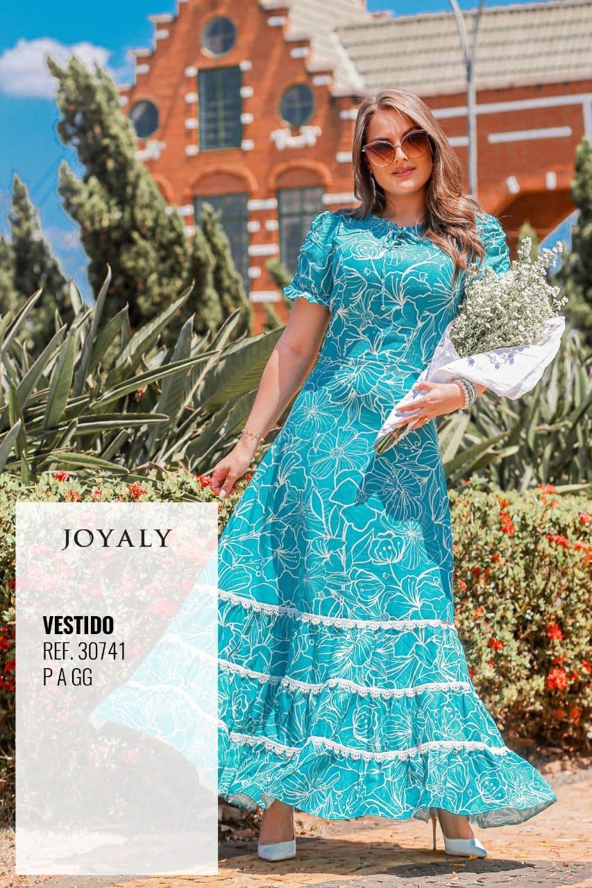 Vestido Longo Em Linho - Moda Evangélica Joyaly (30741 T)