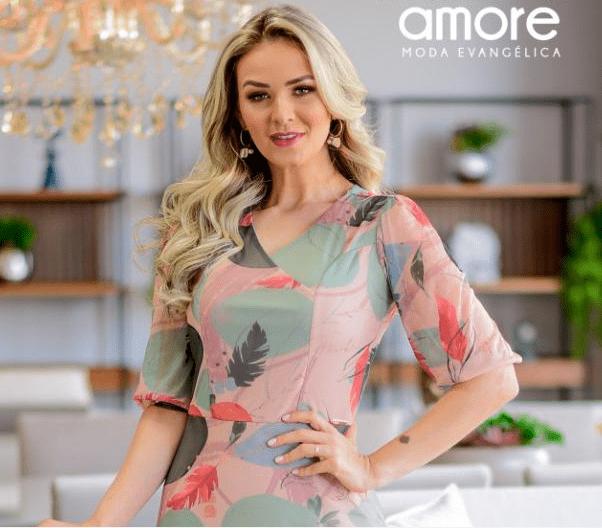 Vestido Longo Em Tule - Moda Evangélica Maria Amore - (3154 T)