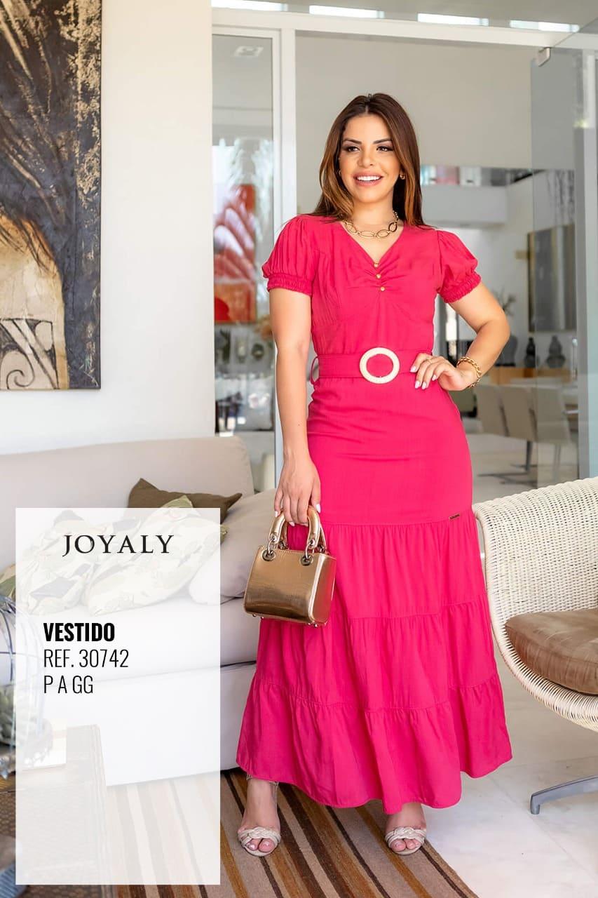 Vestido Longo Em Viscose - Moda Evangélica Joyaly (30742 E)
