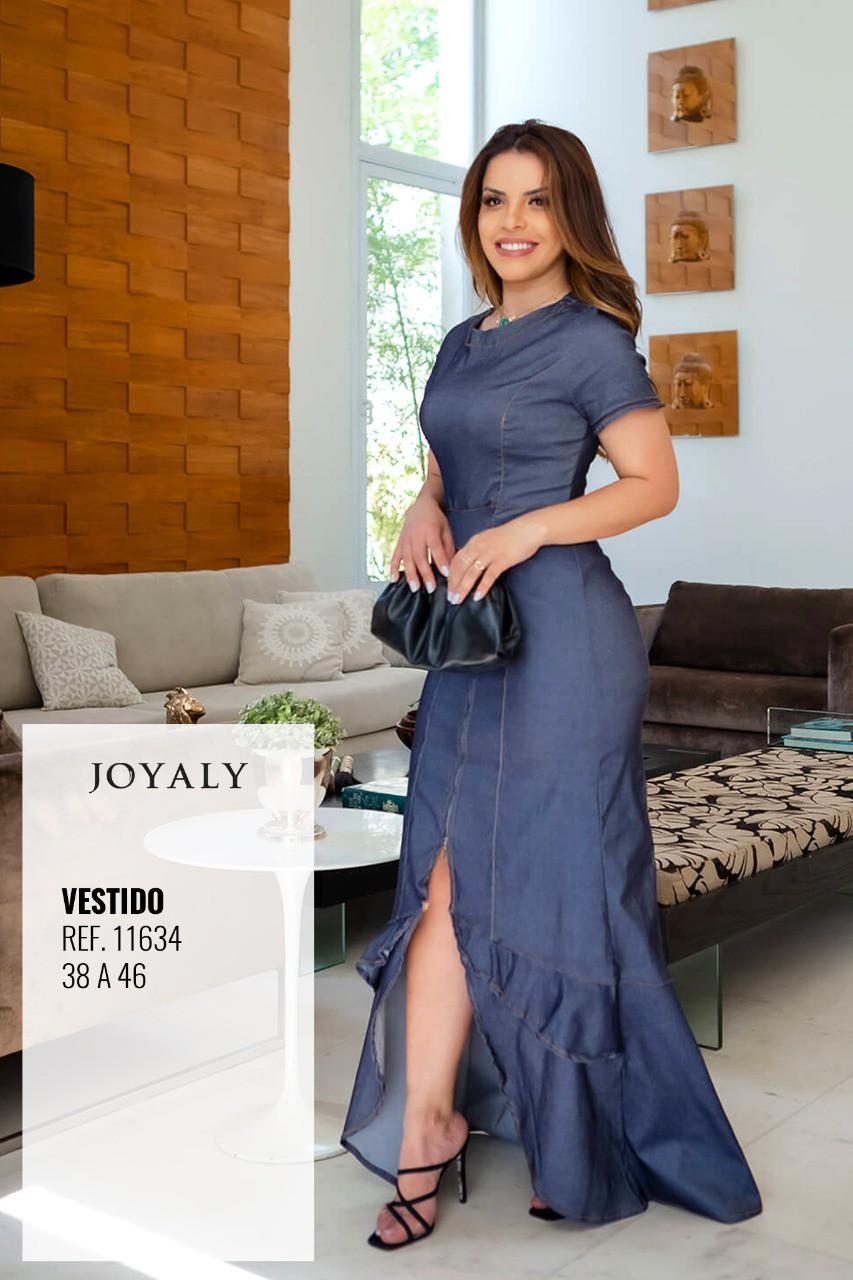 Vestido Longo - Moda Evangélica Lançamento Joyaly (11634 T)