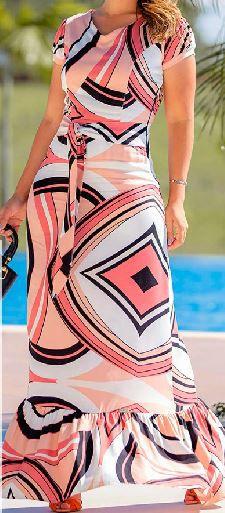 Vestido Longo Moda Evangélica Lançamento Joyaly (30365)