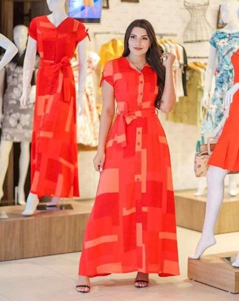 Vestido Longo - Moda Evangélica Joyaly (30367 E)