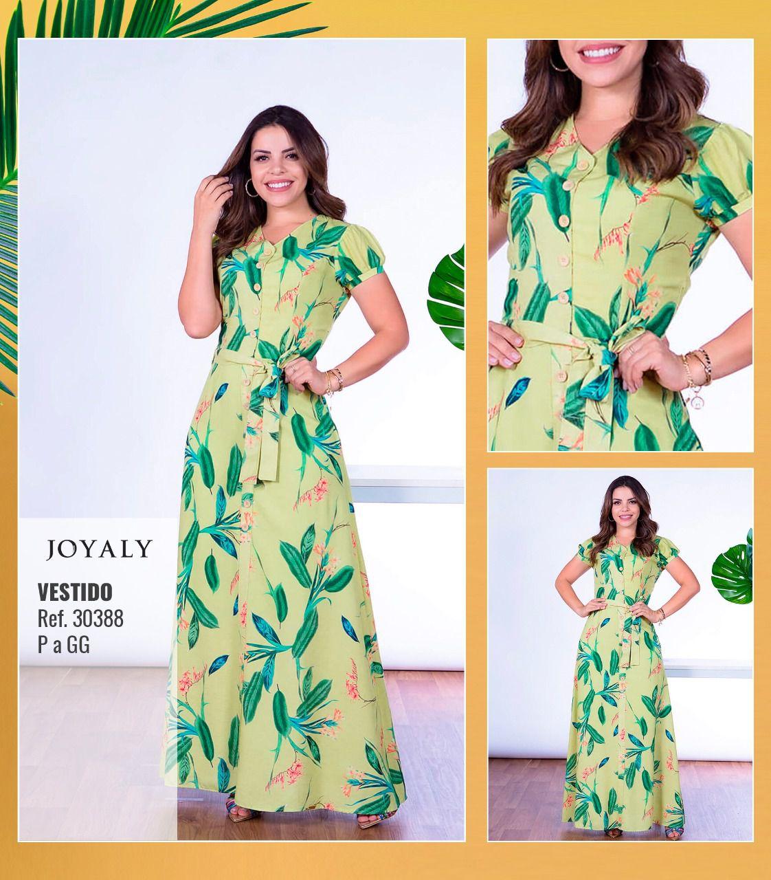 Vestido Longo - Moda Evangélica Lançto Joyaly (30388)