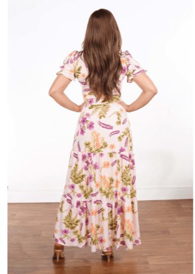 Vestido Longo Poliéster - Moda Evangélica Joyaly (31041 T)