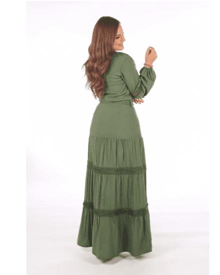 Vestido Longo Sobreposto - Moda Evangélica Joyaly (31014 T)