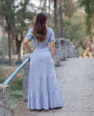 Vestido Longo Viscose - Moda Evangélica Joyaly (30727 E)