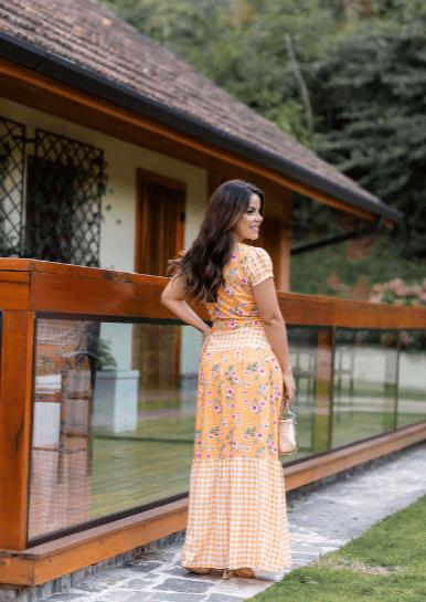 Vestido Longo Viscose - Moda Evangélica Joyaly (30936 T)