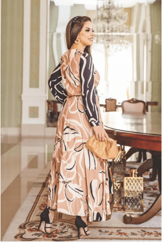 Vestido Longo Viscose - Moda Evangélica Kauly (2807 E)