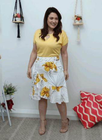 Vestido Luciana Pais e Conjunto Blusa + Saia Cechiq
