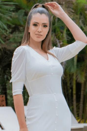 Vestido Malha Canelada - Moda Evangélica Luciana Pais (93171 T)