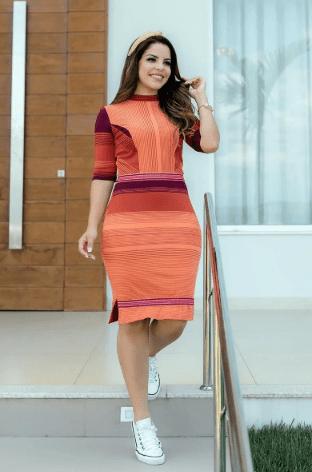 Vestido Malha Crepe - Lançamento Luciana Pais (92717 E)