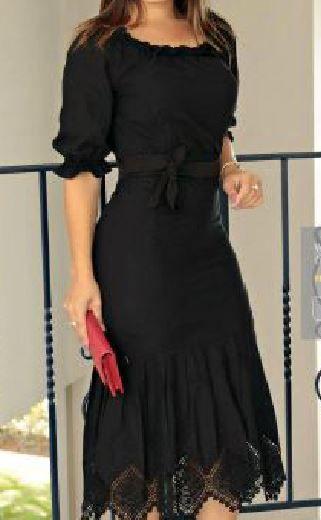 Vestido Midi Barrado Lasie Com Cinto - Kauly (2714 E)
