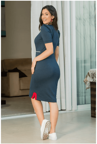Vestido Moletom Mescla - Moda Evangélica Luciana Pais (92867 T)
