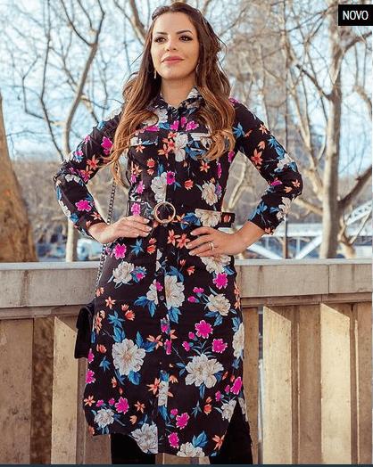 Vestido Paris La Fleur - Lançamento Joyaly (30493 E)