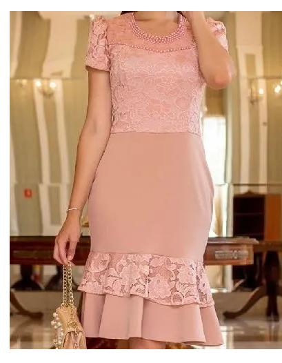Vestido Peplum - Moda Evangélica Maria Amore (2963 E)