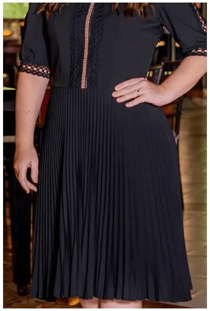Vestido Plissado Alfaiataria - Moda Evangélica Kauly (3078-82 E)