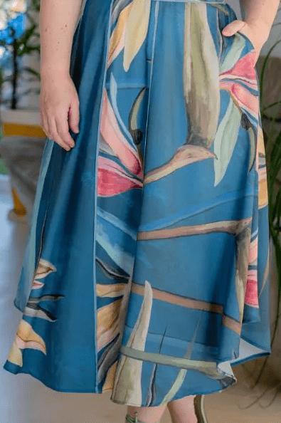 Vestido Plus Size Crepe - Moda Evangélica Kauly (3157 E)