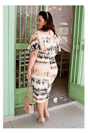 Vestido Plus Size Em Crepe - Moda Evangélica Kauly (2780 E)