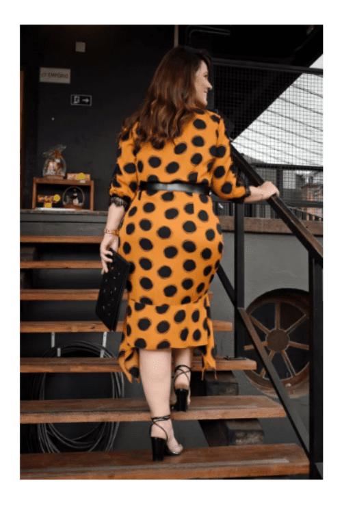 Vestido Plus Size Em Crepe - Lançamento Kauly (2782 E)