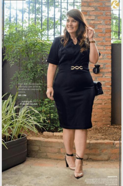 Vestido Plus Size Em Montaria - Lançamento Kauly (2786)