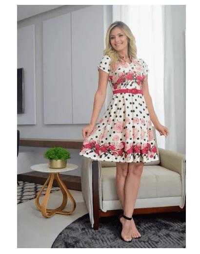 Vestido Pregas Com Cinto - Maria Amore (2279 E)