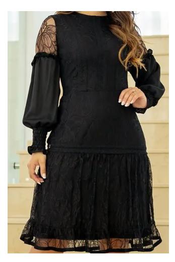 Vestido De Renda - Moda Evangélica Lançamento Kauly (2788 E)
