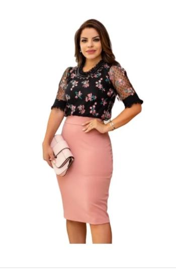 Vestido Tubinho Duo - Lançamento Maria Amore (3094 E)