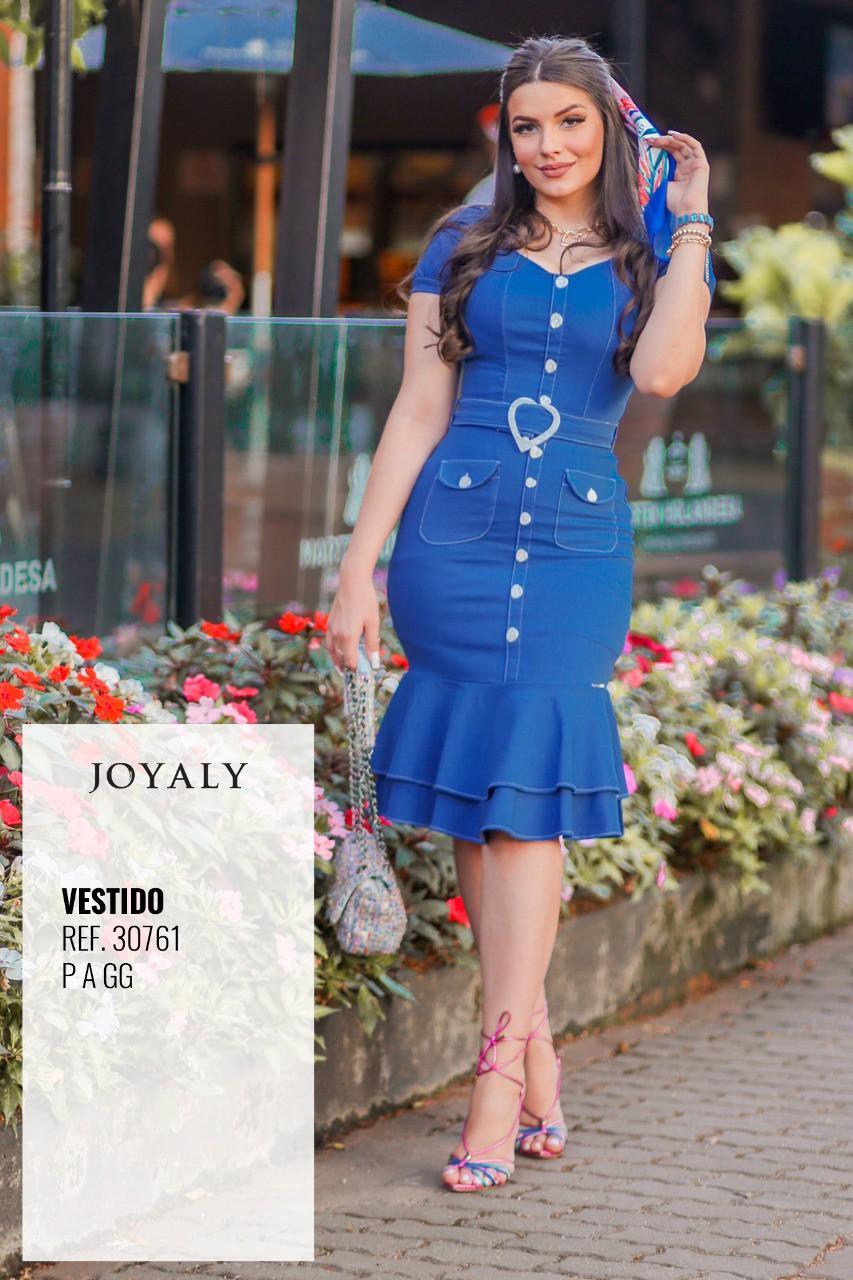Vestido Tubo Bengaline - Moda Evangélica Joyaly (30761 T)