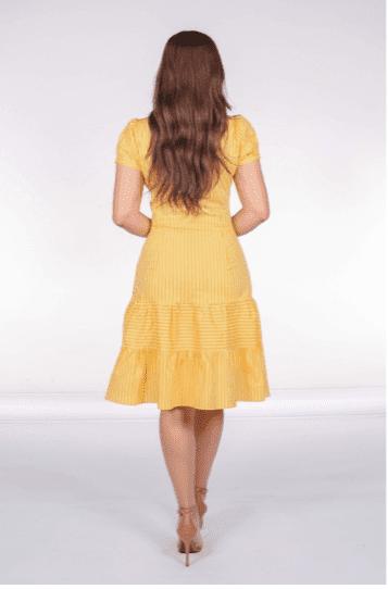 Vestido Tubo Tunel Busto - Moda Evangélica Joyaly (31120 E)