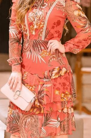 Vestido Em Tule - Moda Evangélica Luciana Pais (92745 E)