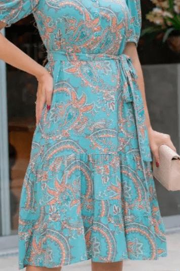 Vestido JÉSSICA FERNANDA- Moda Evangélica Luciana Pais (93005 E)