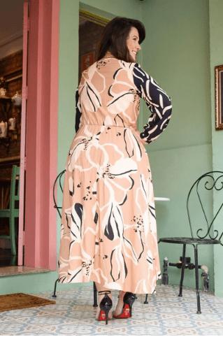 Vestido Viscose e Comprimento Maxi - Lançto Kauly (2808 T)